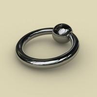 maya ball closure ear ring