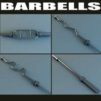 barbell scene 3d model