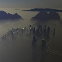3d alien city bryce 6 model