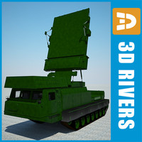 c300b-gladiator radar vehicle 3d model