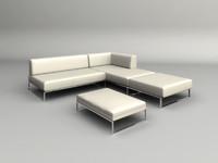 3d corner sofa model