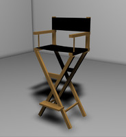 3d model director chair silla cine