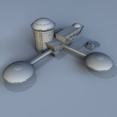 moon base station 3d 3ds - MoonBase001.zip... by MDK Graphics