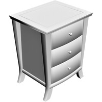 3d table drawers model