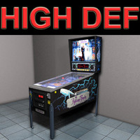 pinball machine play 3d model