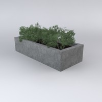 3d model concrete planter