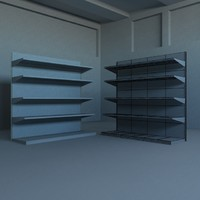 Low/Med Poly Shelving Unit