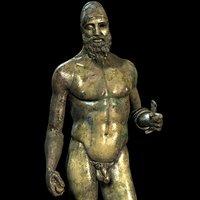 bronze statue riace 3d model