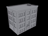 free apartment building 3d model
