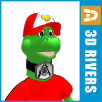 3d gunnersaurs arsenal mascot model