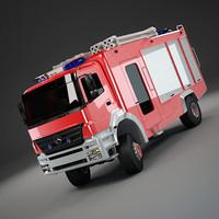 3d model truck firetruck