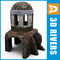 3d model church dome ruin