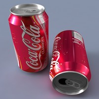3d soda beverage tin