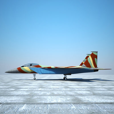 3ds max f-15 eagle jet - F-15 Eagle by 3DRivers... by 3DRivers