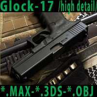 GLOCK-17 /high detail 3d model/