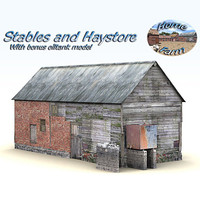 3d model of stable building