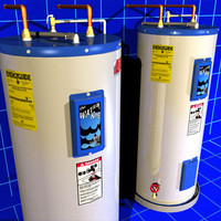 hot water heater 02 3d model