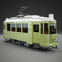 tram old lilpop 3d model