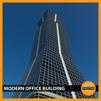modern office building 04 3d 3ds