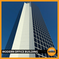 modern office building 06 3d model