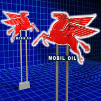 3d model mobil sign oil gas station