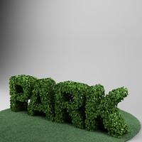 bush park 3d model