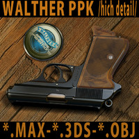 WALTHER PPK /high detail 3d model/