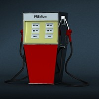 antique petrol pump 3ds