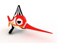 Cartoon Swordfish (Red) - Cartoonish Aquatic Creature 3d model