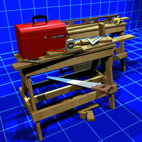 Tool Box and Saw Horses 01