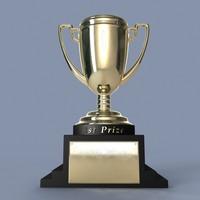 trophy 3d obj