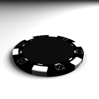 fiches chip casinò poker 3d model