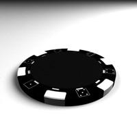 fiches chip casinò poker 3d model