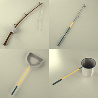 fishing tools 3d 3ds