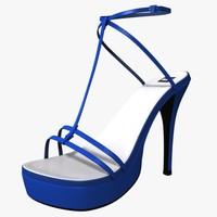 High Heel Sandals 3d Model