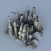 alien city 3d model