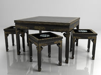 Antiquarian little table with chairs