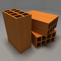 construction bricks 3d model
