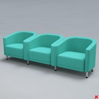 chair waiting 3d model