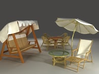 Collection of garden furniture