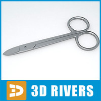 3d model crown scissors