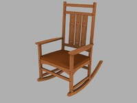 3d ellis rocking chair model