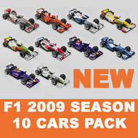 F1 2009 10 CARS COLLECTION