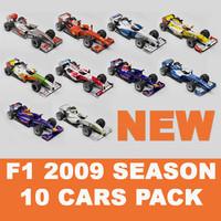 f1 2009 cars 09 3d model
