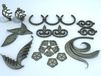 decorative elements forged metal 3d model