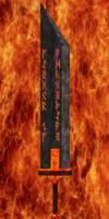 burning sword mystery 3d obj