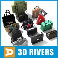 bags fashion retail 3d model
