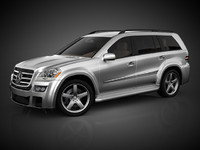 mercedes gl tuning 3d model