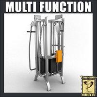 3dsmax multi fitness machine scene