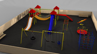 playscape playground slide 3d c4d